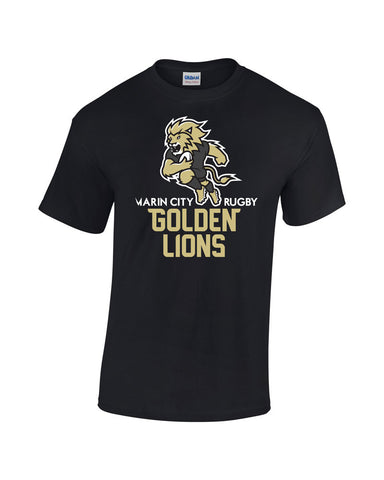 Marin City Golden Lions Youth Rugby Fundraising T-Shirt - Youth Sizes avail.