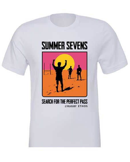 The Endless Summer Sevens Tee Rugby Shirt Silver - Rugby Ethos