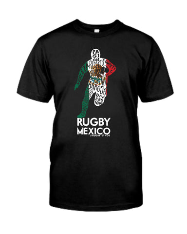 Rugby Mexico! En Espanol! Men's Word Tee
