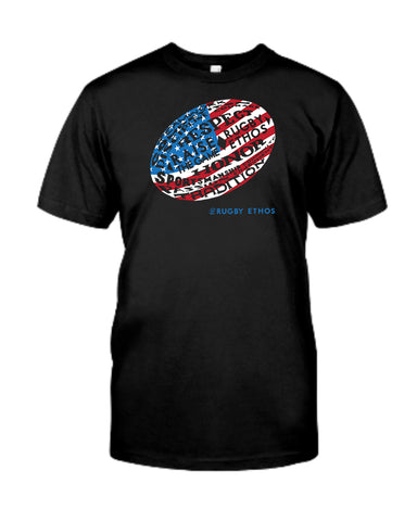 Because America!  US Rugby Word Ball Tee