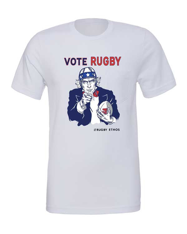 This Year - Vote Rugby! Election Special Rugby Shirt - color Silver - Rugby Ethos