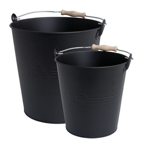 BLACK METAL BUCKETS SET OF 2 - Tea and Kate