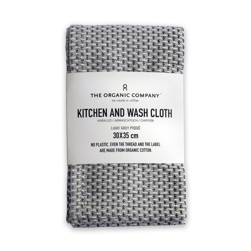 Kitchen and Wash Cloth LIGHT GREY - Tea and Kate
