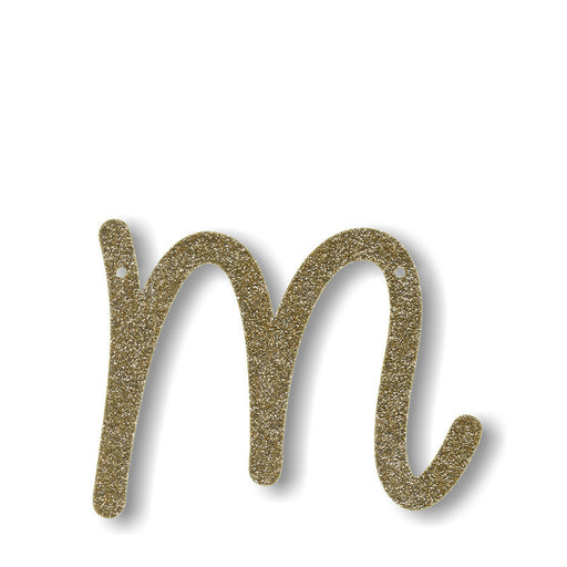 Meri Meri gold glitter bunting initial A to Z - Tea and Kate - meri meri - 2