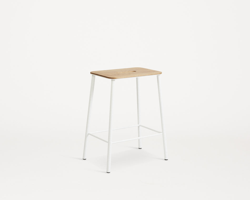 Adam Stool | Oak / WHITE WAS £315 - Tea and Kate