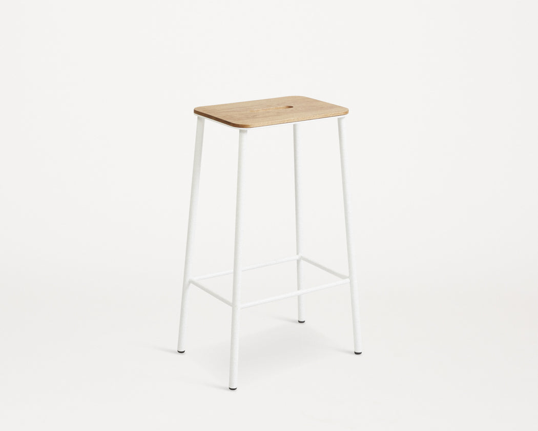 Adam Stool | Oak / WHITE - Tea and Kate
