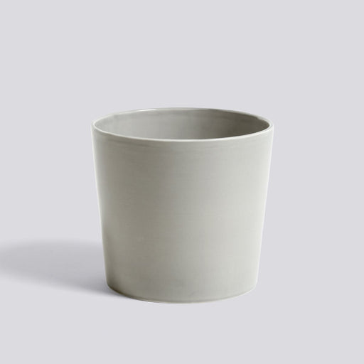 BOTANICAL FAMILY CERAMIC POT LARGE LIGHT GREY - Tea and Kate