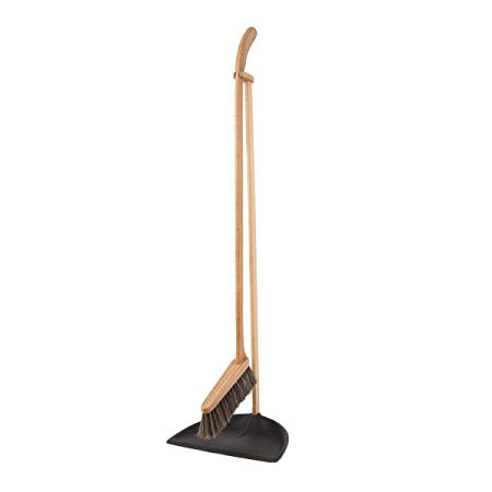 Tall dustpan and brush set black - Tea and Kate