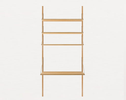 Shelf Library Natural H1852 | Desk Section