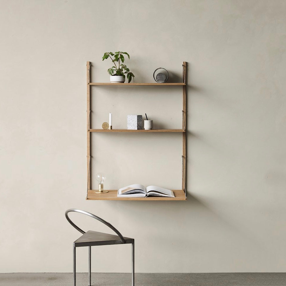 Shelf Library Natural H1148 | Desk Section - Tea and Kate