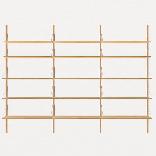 Shelf Library Natural H1852 | Triple Section - Tea and Kate