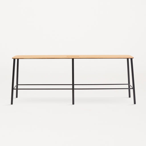 Adam Bench | Oak / Matt Black - Tea and Kate