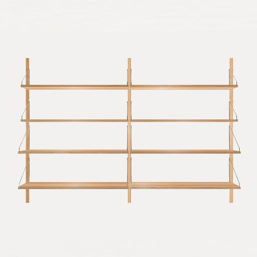 Shelf Library Natural H1148 | Double Section - Tea and Kate