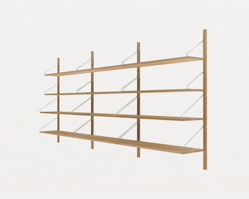 Shelf Library Natural H1148 | Triple Section - Tea and Kate