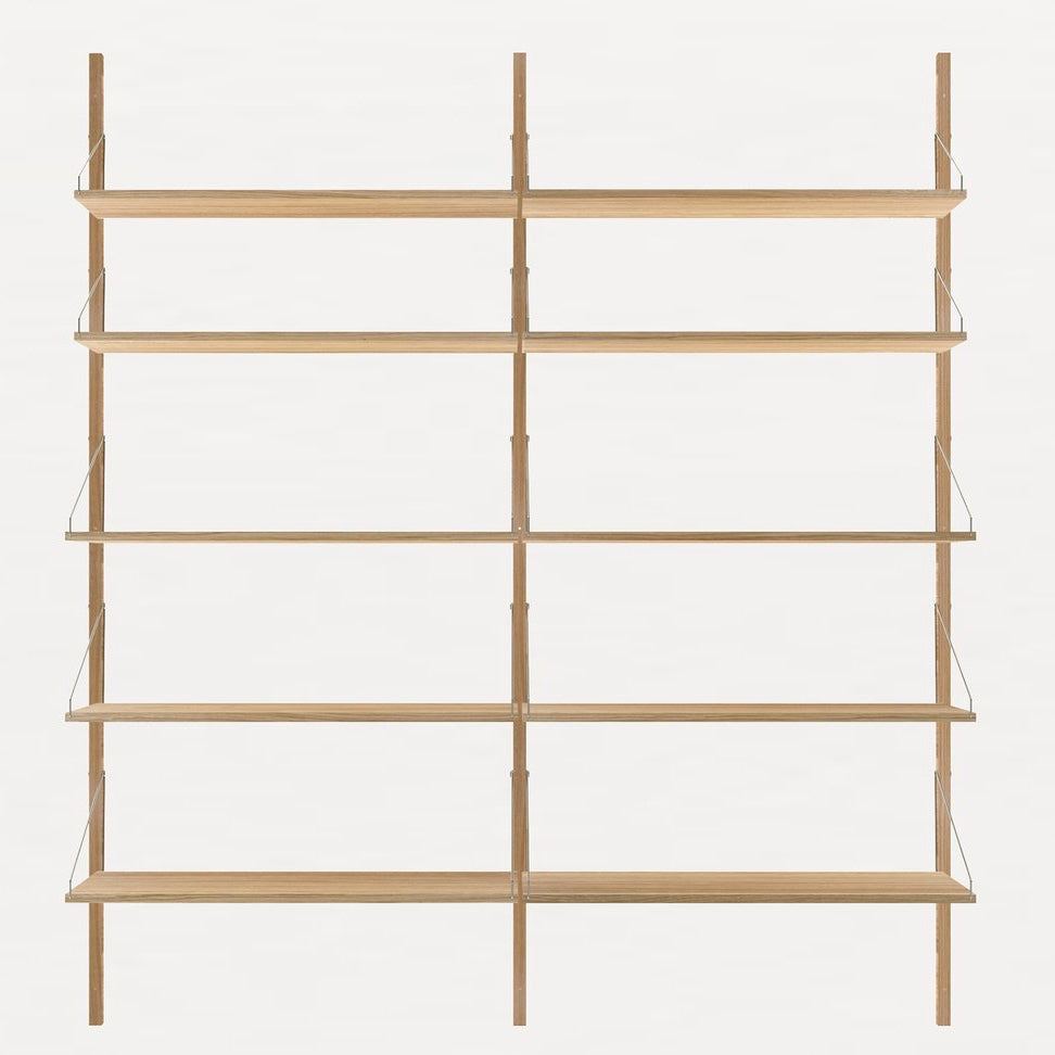 Shelf library Natural H1852 | Double Section - Tea and Kate