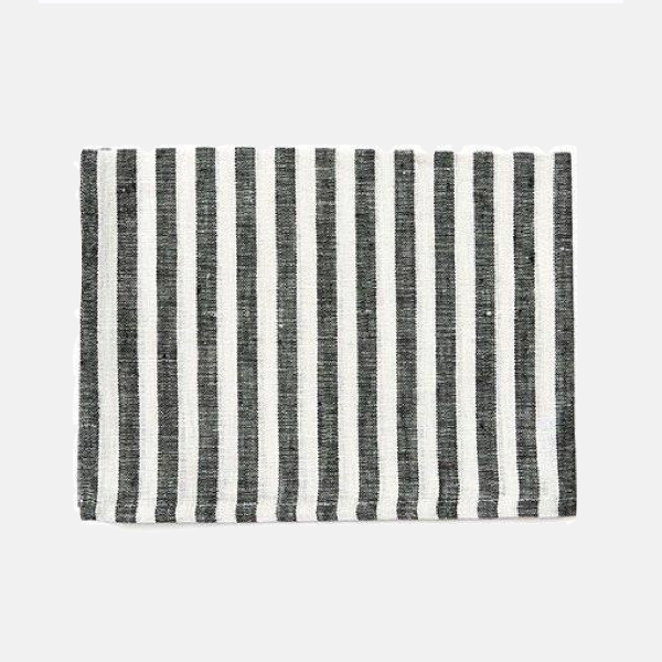 Linen Kitchen Cloth Black White Stripe was £14 - Tea and Kate