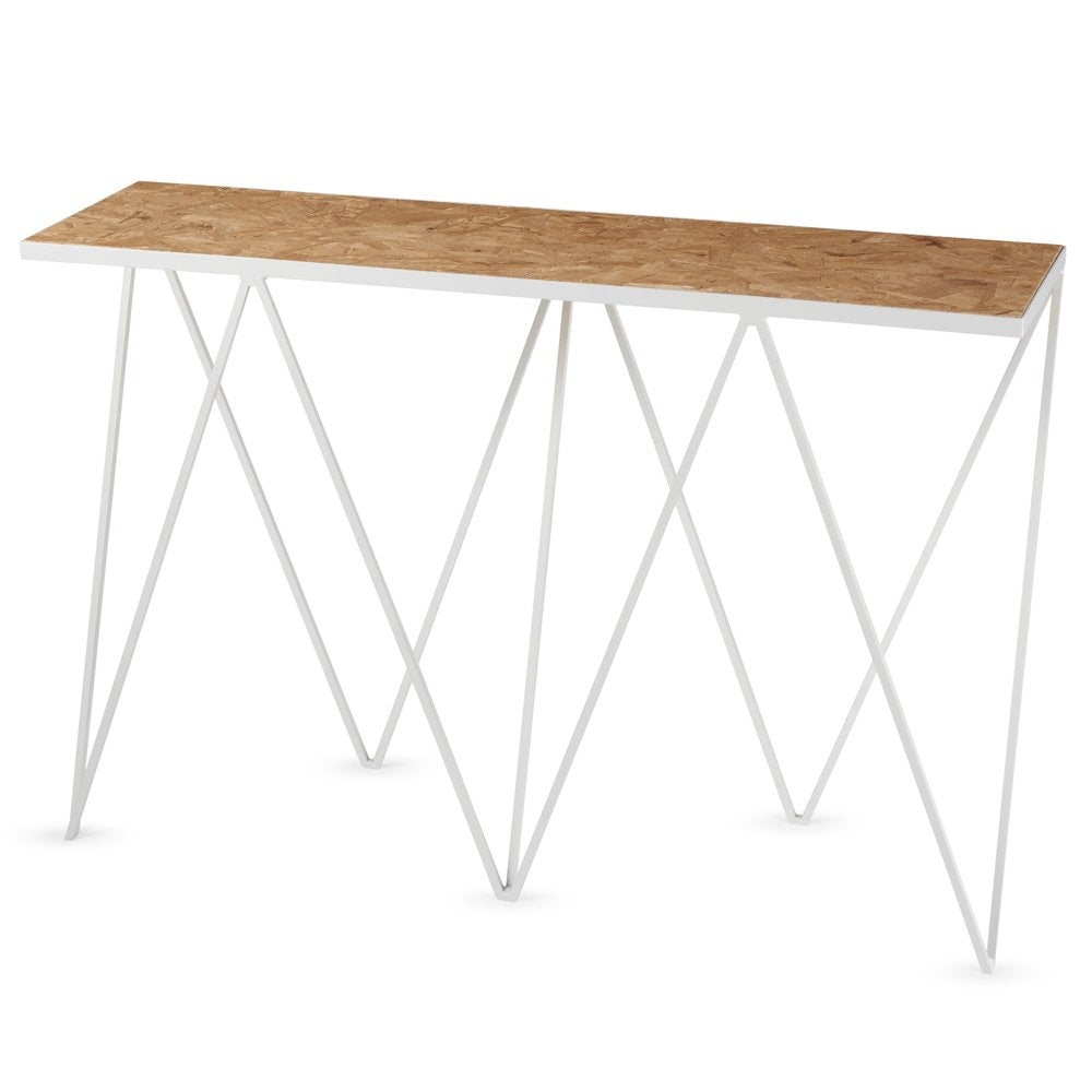 Giraffe steel console table in paper white - Tea and Kate