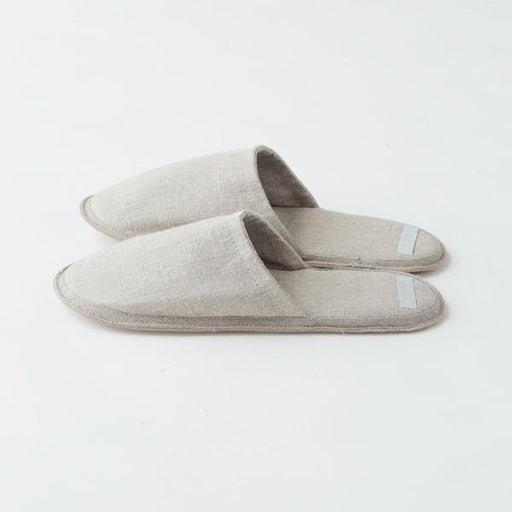 Natural Medium linen Slippers - Tea and Kate