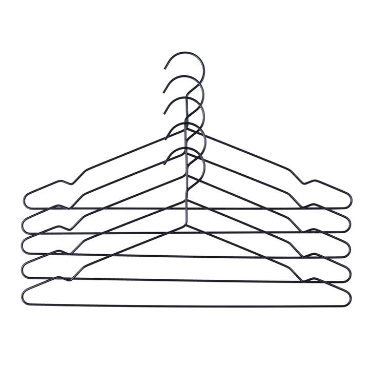 Hay Hang set of 5 hangers - black