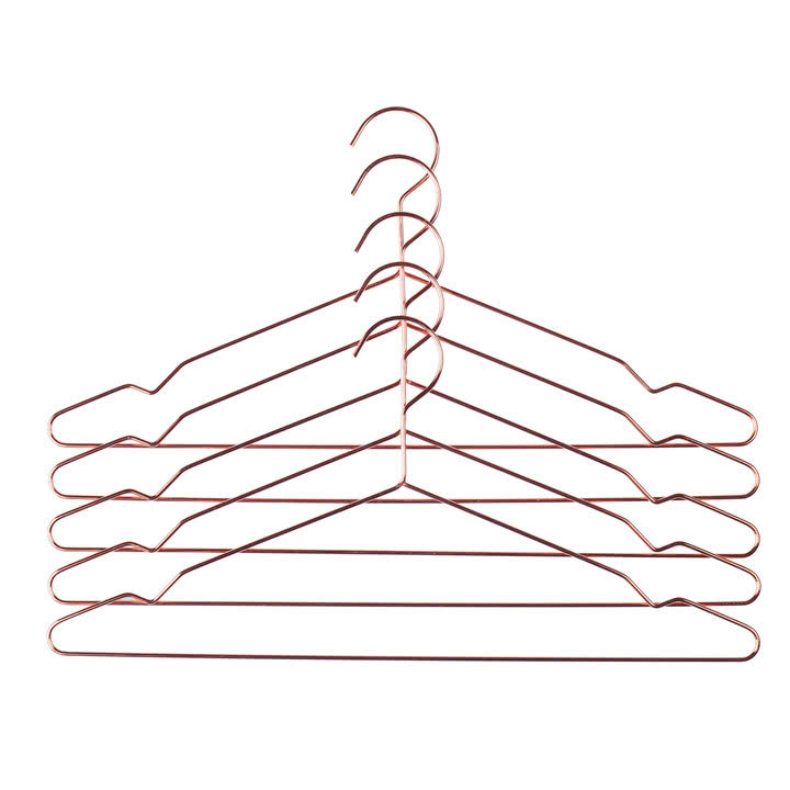 Hay Hang set of 5 copper hangers