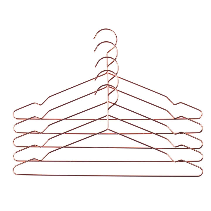 Copper Set of Five Hangers was £10 - Tea and Kate