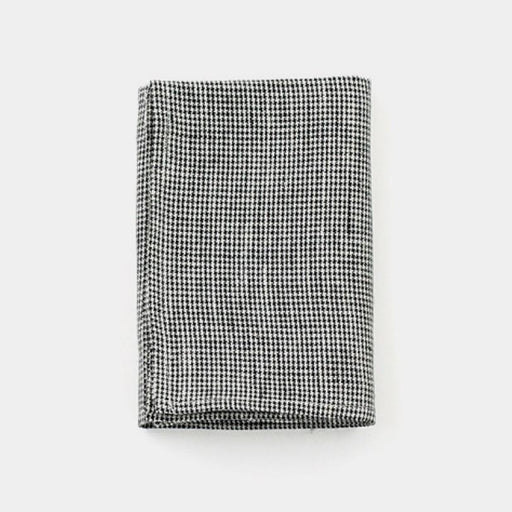 Linen Kitchen Cloth black houndstooth - Tea and Kate