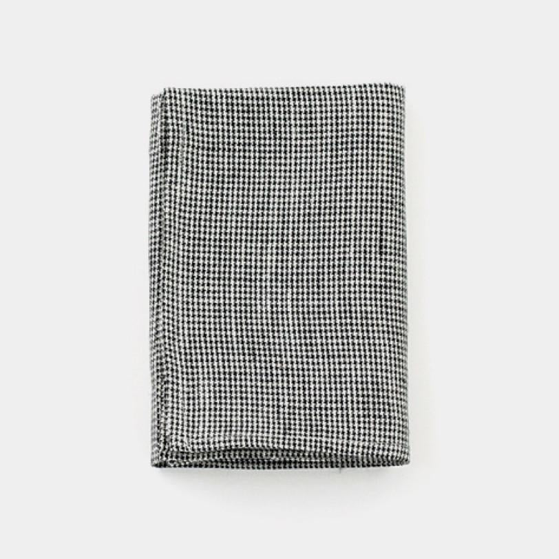 Linen Kitchen Cloth black houndstooth