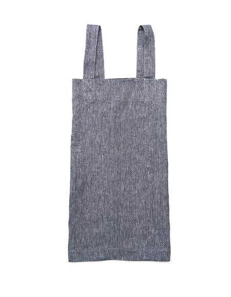 Linen Square Cross Apron Linen Denim - Tea and Kate