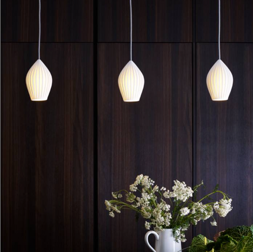 Medium  Fin Pendant Light - Tea and Kate