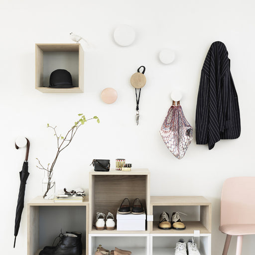 Muuto Set of Natural Oak Dots Coat Hooks - Tea and Kate