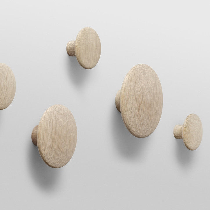 Muuto Set of Natural Oak Dots Coat Hooks - Tea and Kate - muuto - 1
