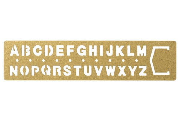 Traveler's Company brass stencil book mark - alphabet - Tea and Kate