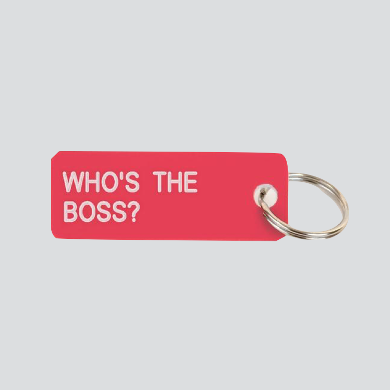 Who's The Boss Keytag - Tea and Kate
