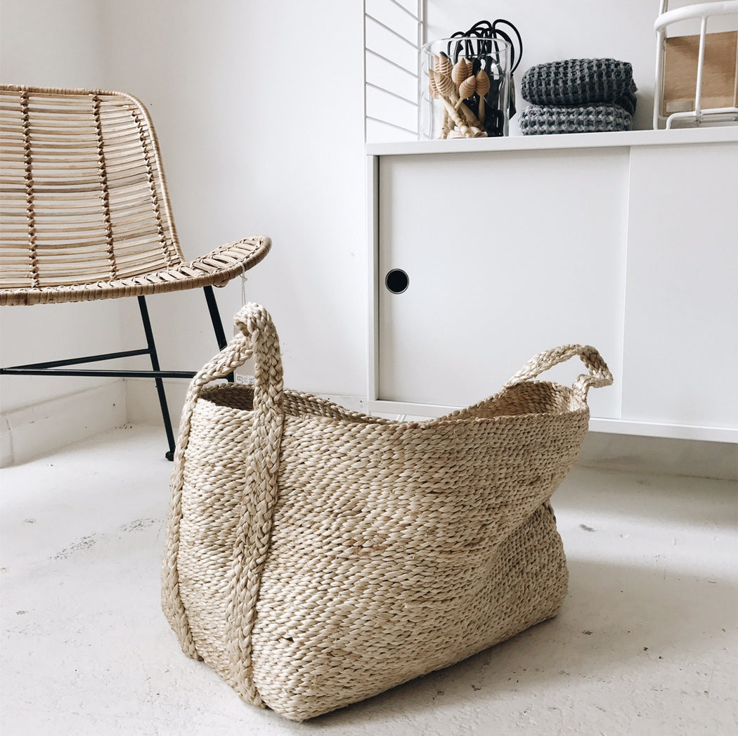 Swedish Small Jute Natural Basket was £69 - Tea and Kate