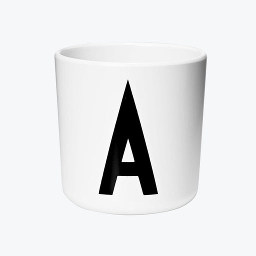 Design Letters Melamine Cups A to Z