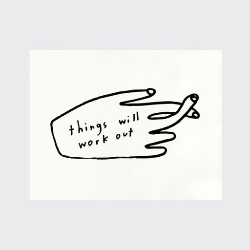 Things will work out greetings card - Tea and Kate