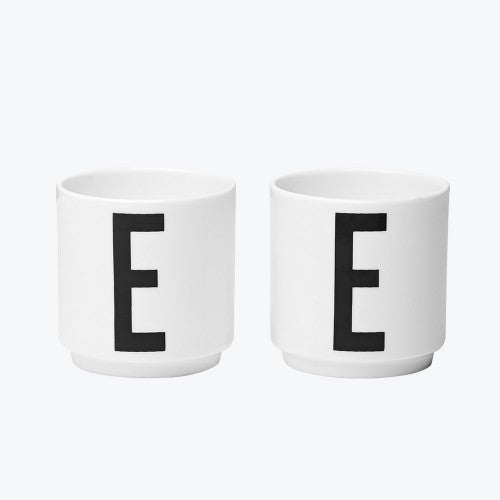 Set of Two Letter E Egg Cups - Tea and Kate