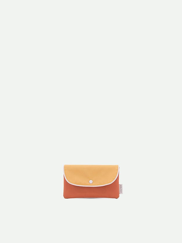 pencil case wanderer | retro yellow + faded orange + seventies green