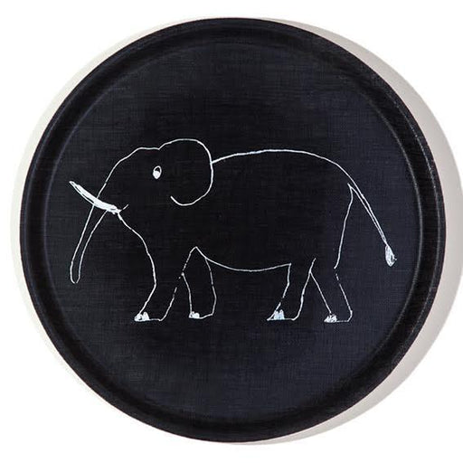 100% linen Elephant tray - Tea and Kate