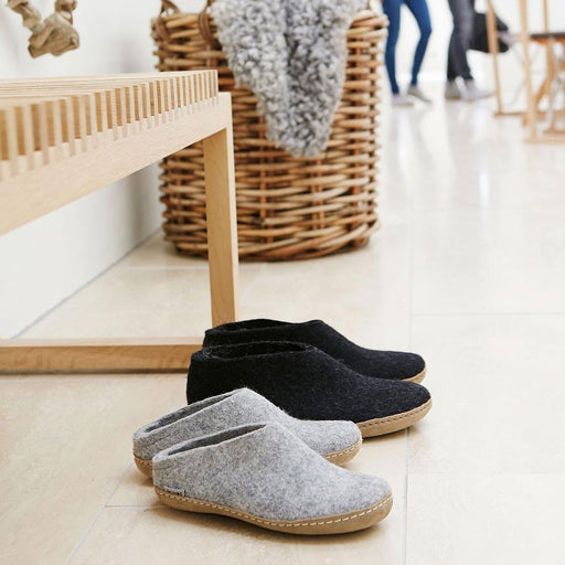 Felt house shoe junior charcoal was £42 - Tea and Kate