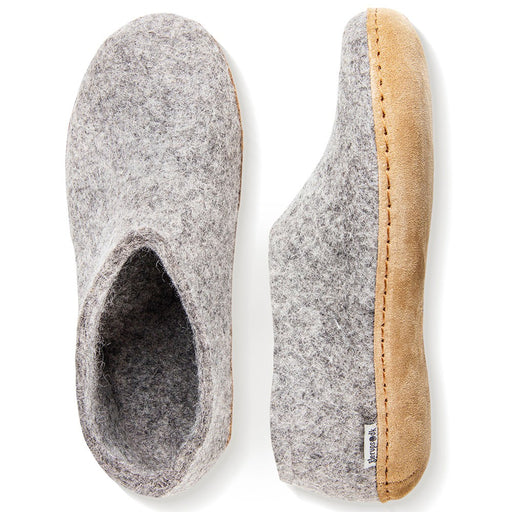 DANISH Felt house shoe grey - Tea and Kate