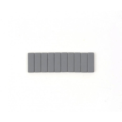 Black Wing pencil erasers grey - Tea and Kate