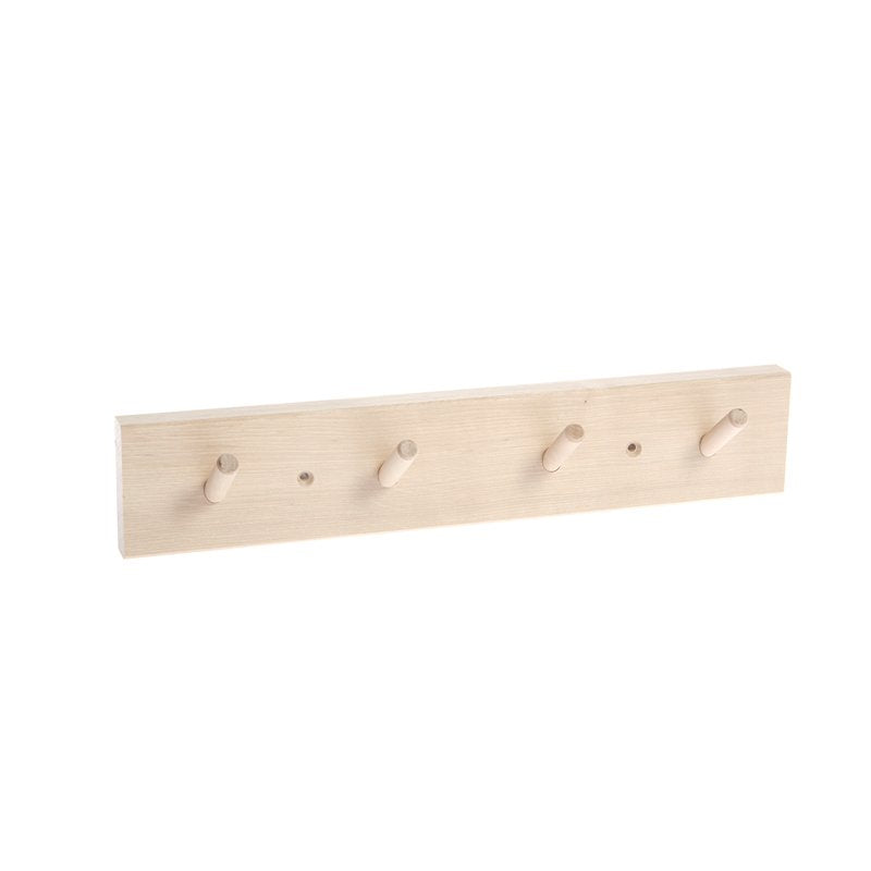 BIRCH RACK WITH 4 HOOKS - Tea and Kate