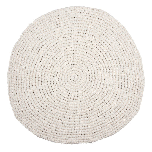 Crandet CRICHET WHITE rug Ø80 cm - Tea and Kate