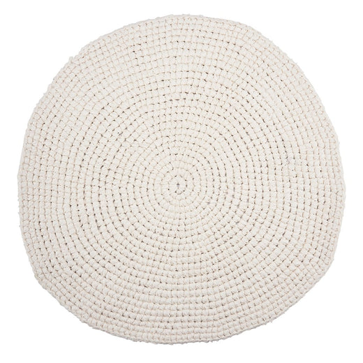 CRoCHET WHITE rug Ø80 cm was £90 - Tea and Kate
