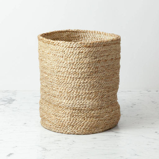 Swedish natural jute simple cylinder storage basket