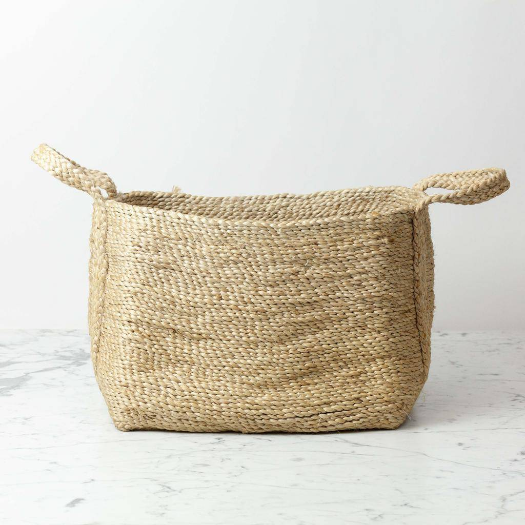 Swedish Small Jute Natural Basket - Tea and Kate