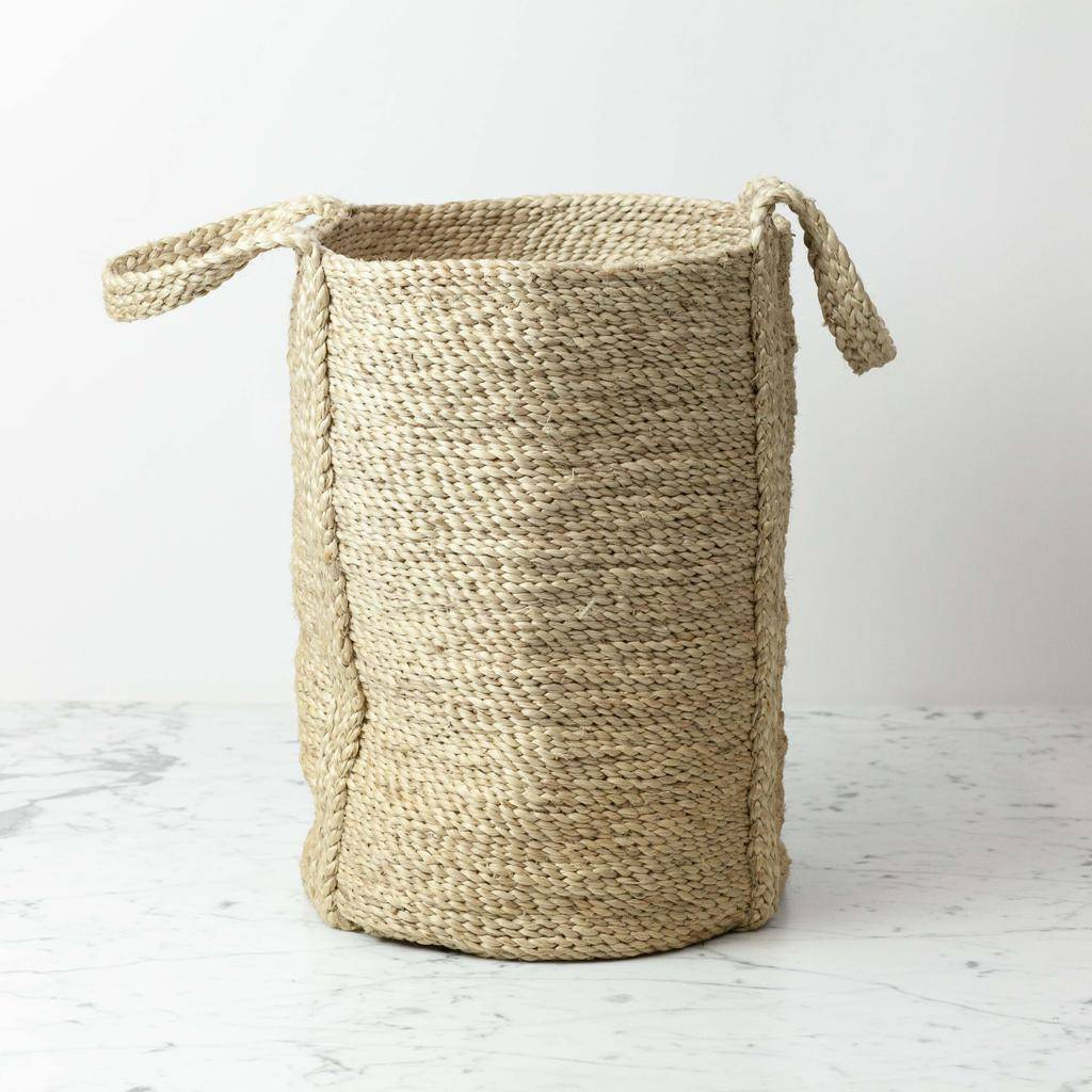 Swedish Round Large natural Jute Basket - Tea and Kate