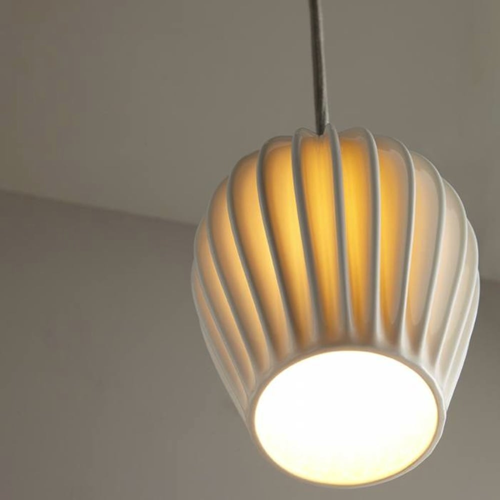 Fin Medium Pendant Light - Tea and Kate