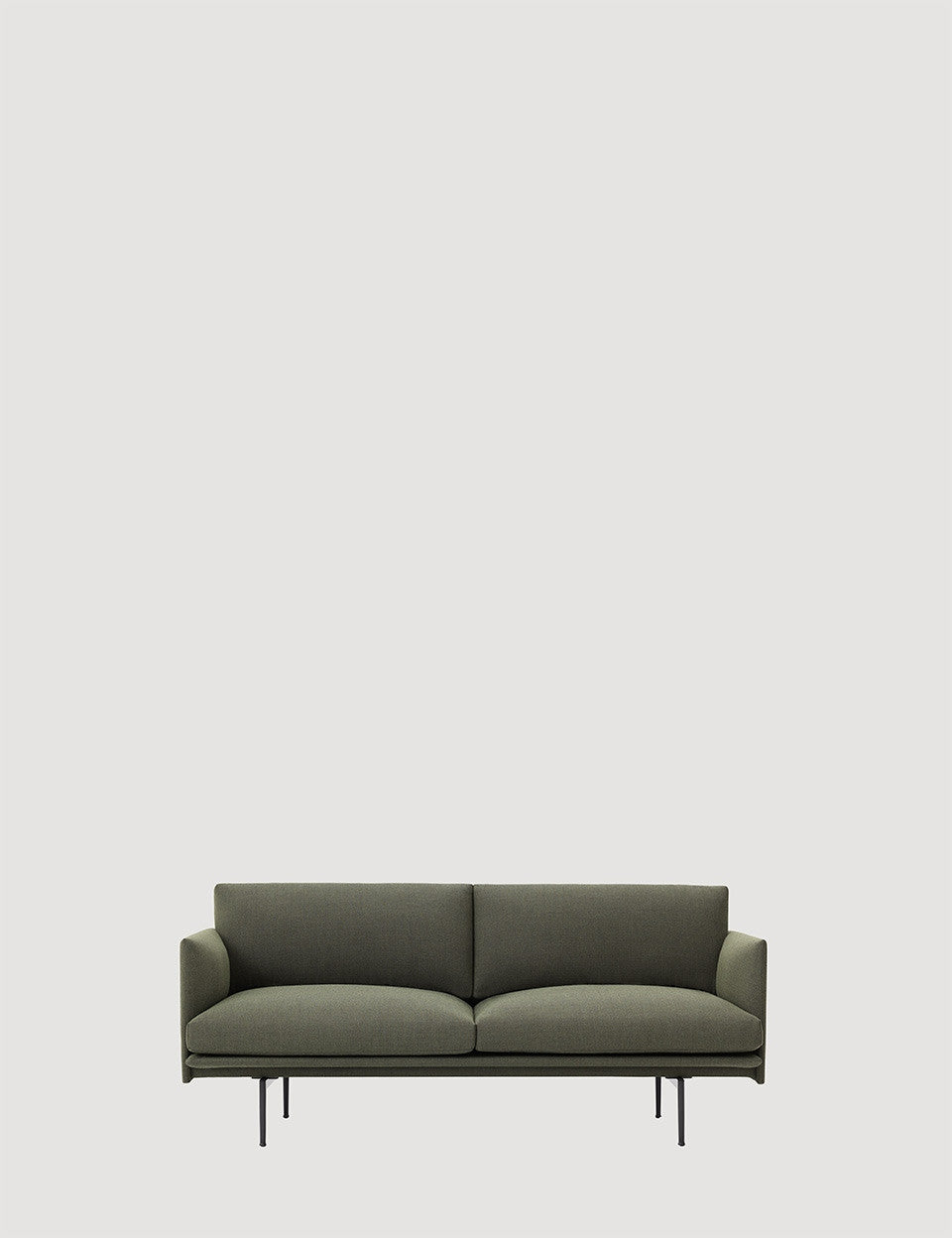 Two Seater Outline Sofa - Tea and Kate